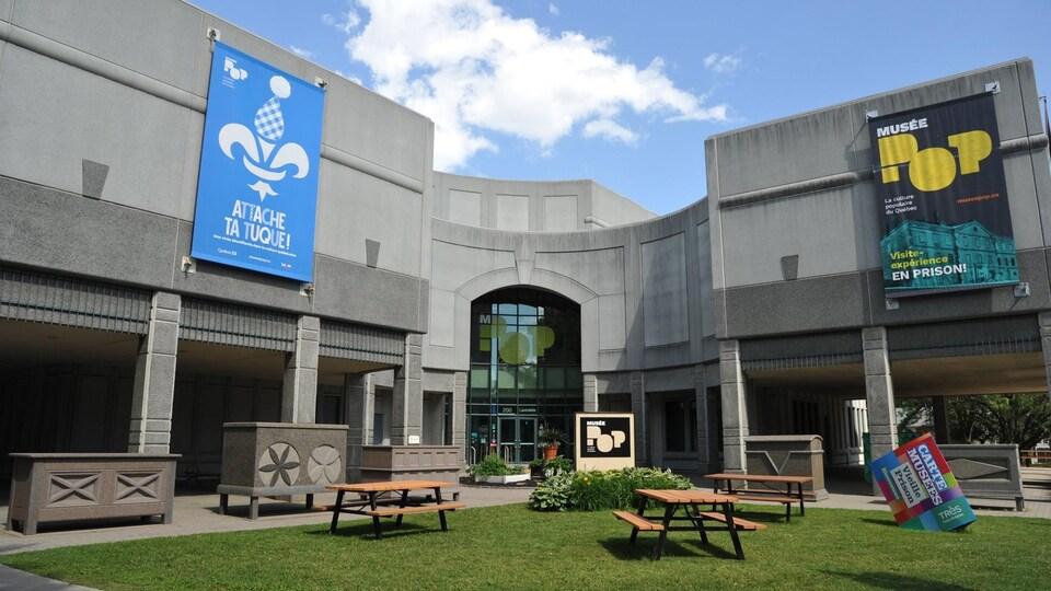 Façade avant du Musée Pop de Trois-Rivières.