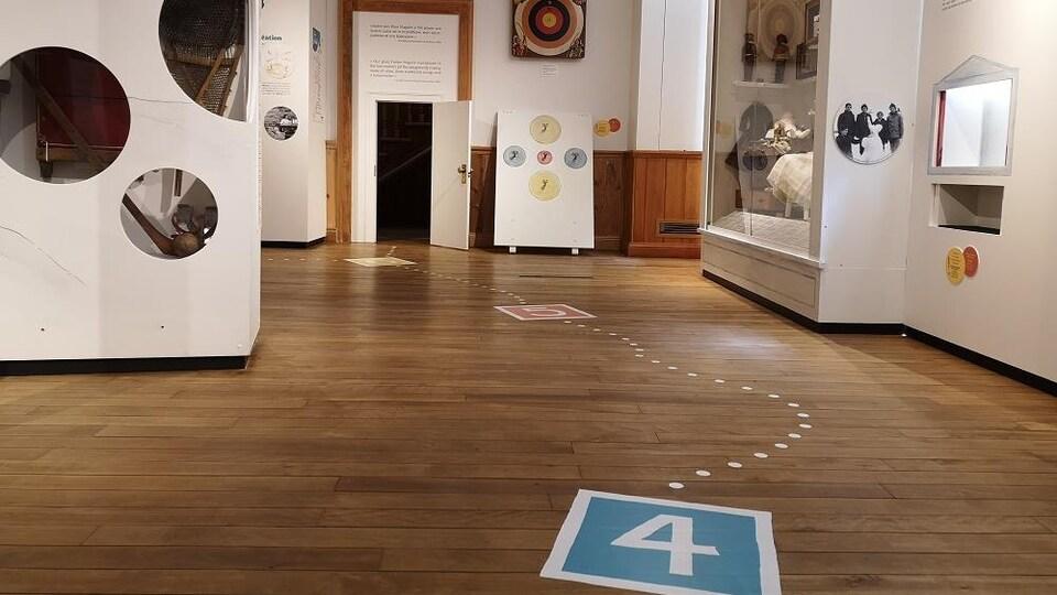 Une salle d'exposition du Musée du Pôle culturel du Monastère des Ursulines