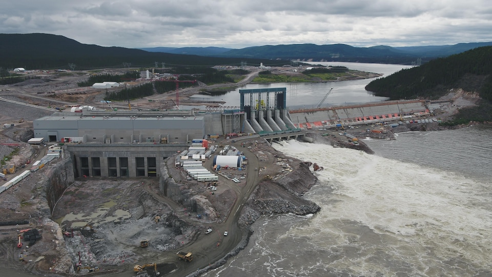 Un photo du chantier du projet hydroélectrique Muskrat Falls, au Labrador