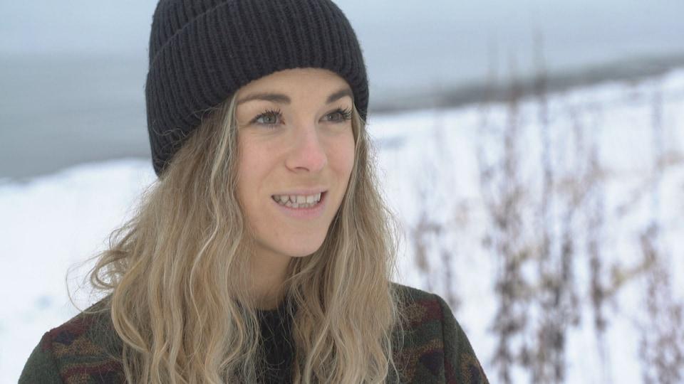 Mylène Vallée en entrevue avec Radio-Canada.