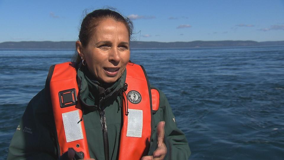 Nadia Ménard est écologiste dans le parc marin du Saguenay-Saint-Laurent
