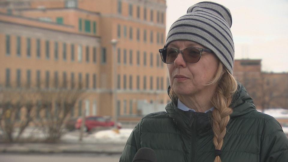 Nancy Hogan, présidente du Syndicat interprofessionnel du CHU de Québec