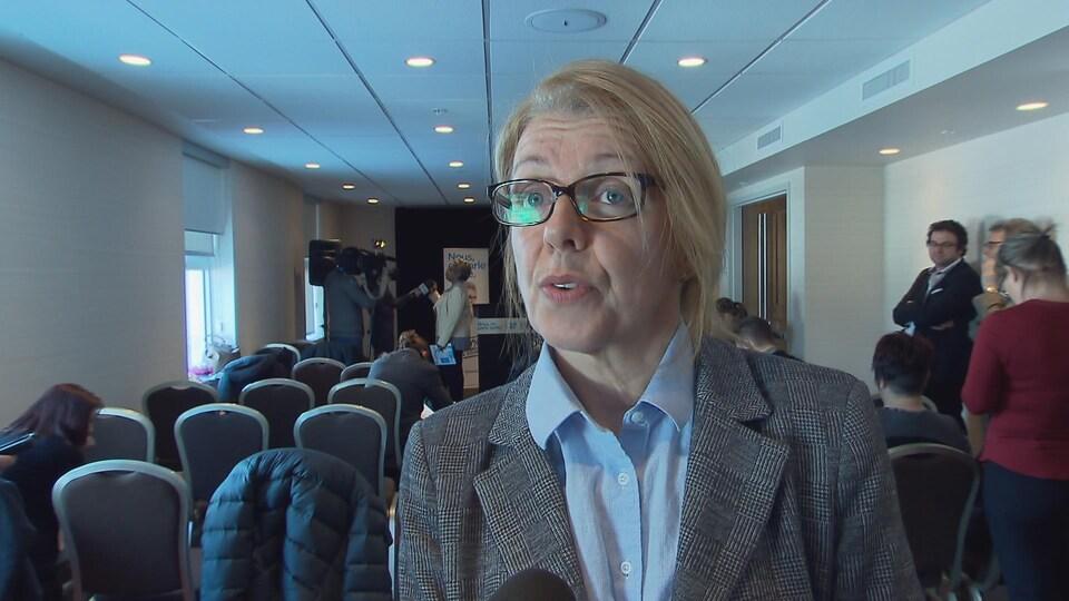 Nancy Hogan, présidente par intérim du syndicat des professionnels en soins du CHU de Québec