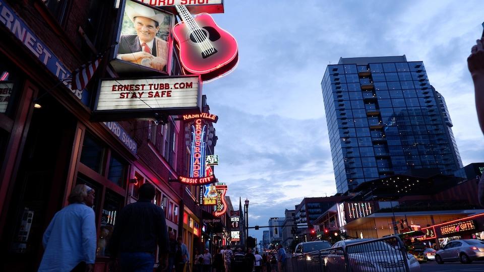 Le centre-ville de Nashville, au Tennessee.