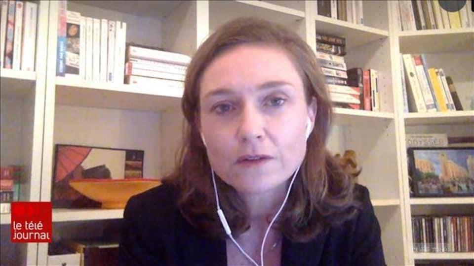 Nathalie Grandvaux en vidéoconférence.