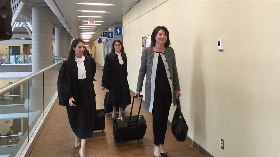 Nathalie Normandeau au palais de justice de Québec