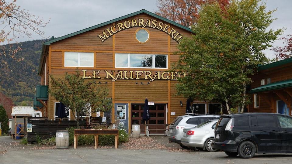 La façade de la microbrasserie Le Naufrageur.