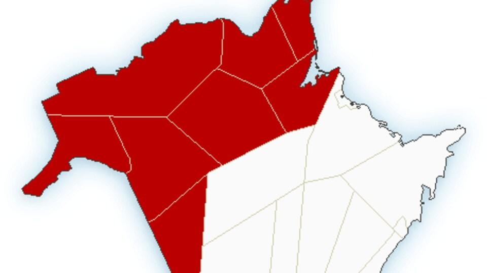 Carte du Nouveau-Brunswick