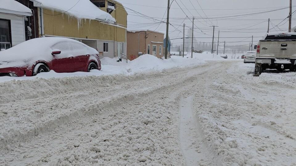 Beaucoup de neige sur les routes