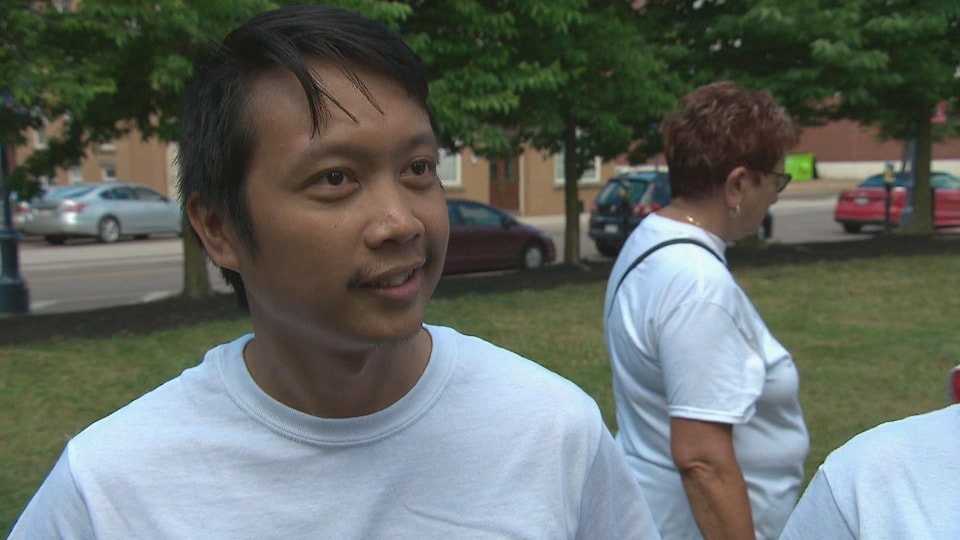 Neil Cabangangan, membre de la communauté philippine de Moncton.