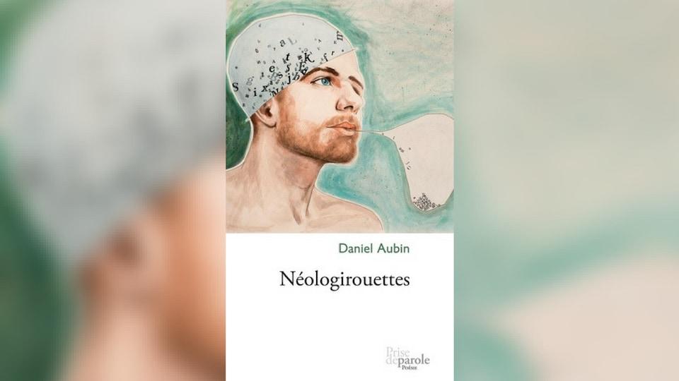 Couverture du livre avec un dessin d'homme. Sur sa tête, un bonnet avec des lettres mélangées. De sa bouche sort une bulle avec des lettres à l'intérieur.