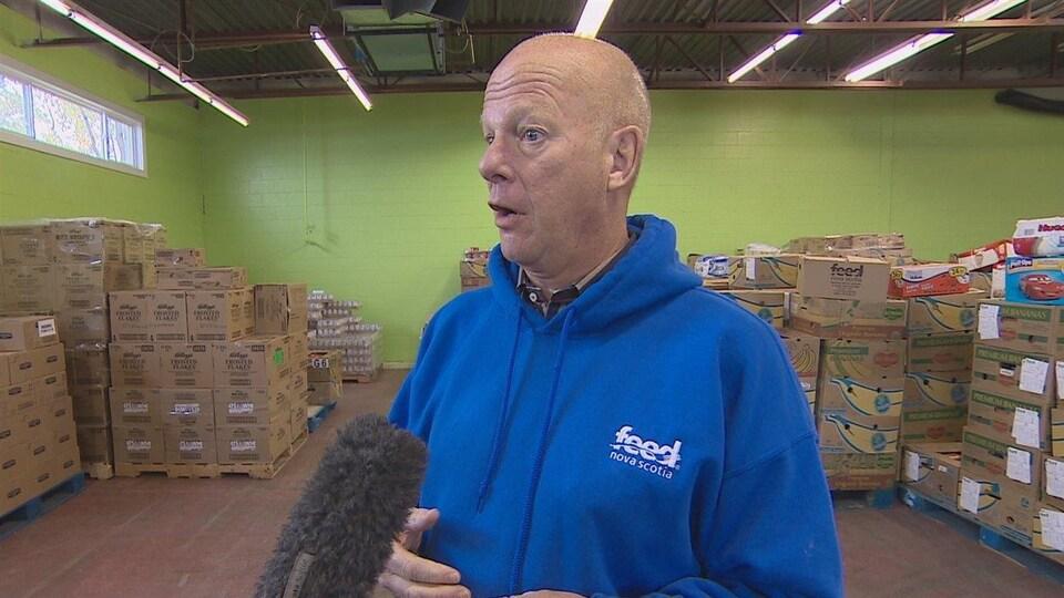 Le directeur général de la banque alimentaire de la Nouvelle-Écosse, Nick Jennery