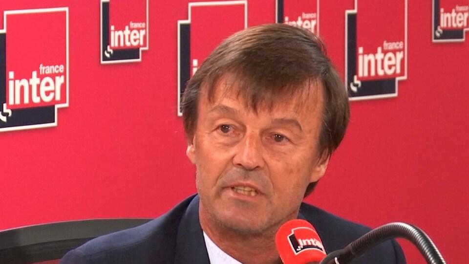 Nicolas Hulot au micro de France Inter
