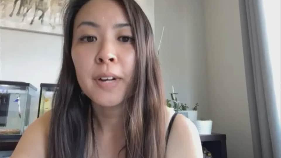 Nicole Au lors d'une vidéoconférence.