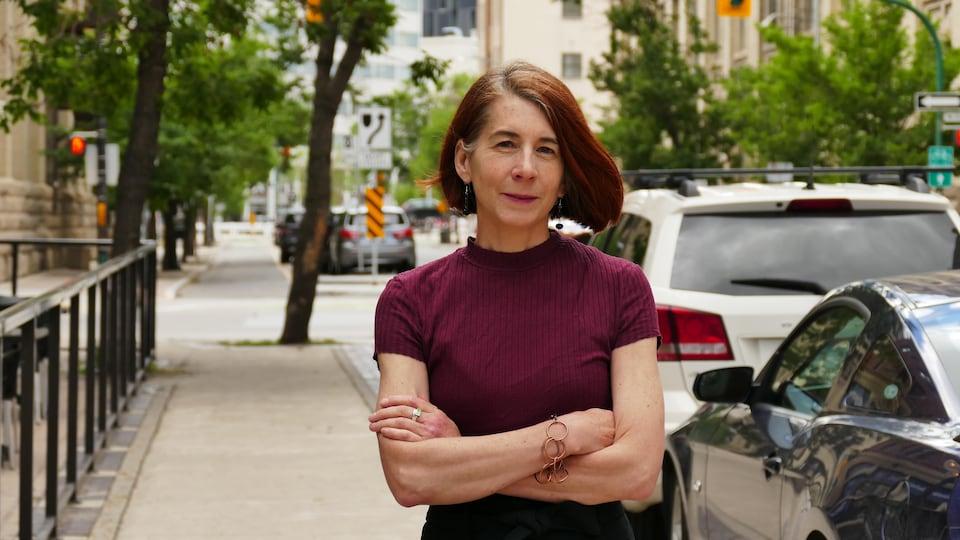 Nicole Matiation, à l'extérieur dans le centre-ville de Winnipeg.