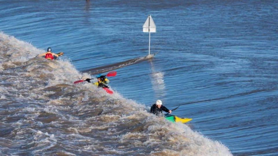 Un nouveau bras du Rhin permet aux riverains et les amateurs de kayak et de canot de s'amuser.