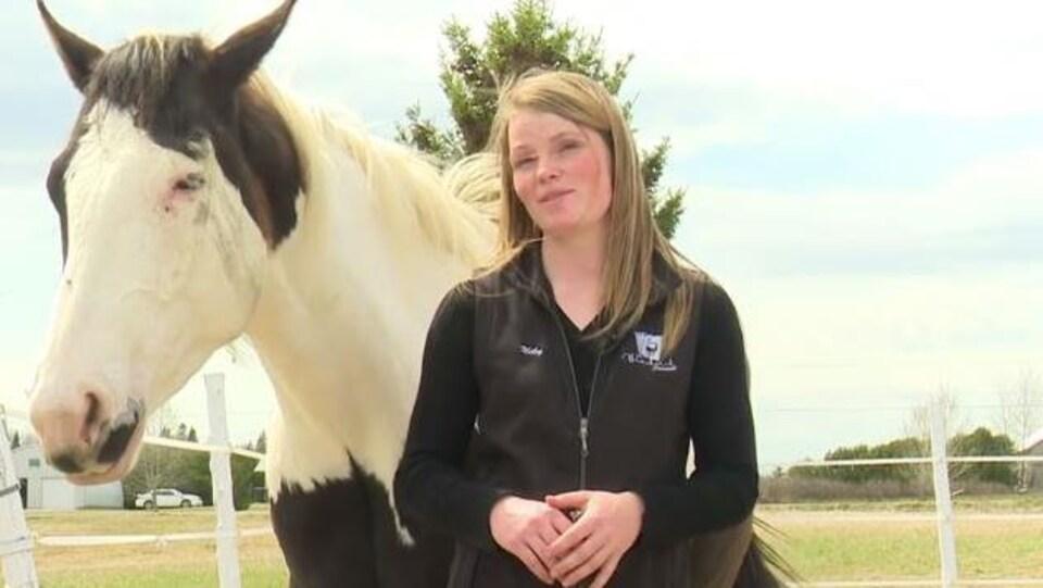 Niky Robert et son cheval BlackJack.