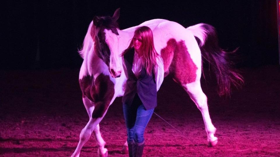 Niky Robert et son cheval à St-Hyacinthe