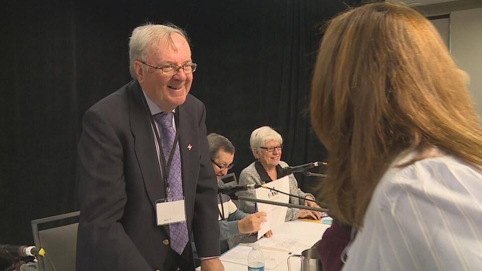 Le nouveau président de la Fédération acadienne de la Nouvelle-Écosse (FANE), Norbert LeBlanc.
