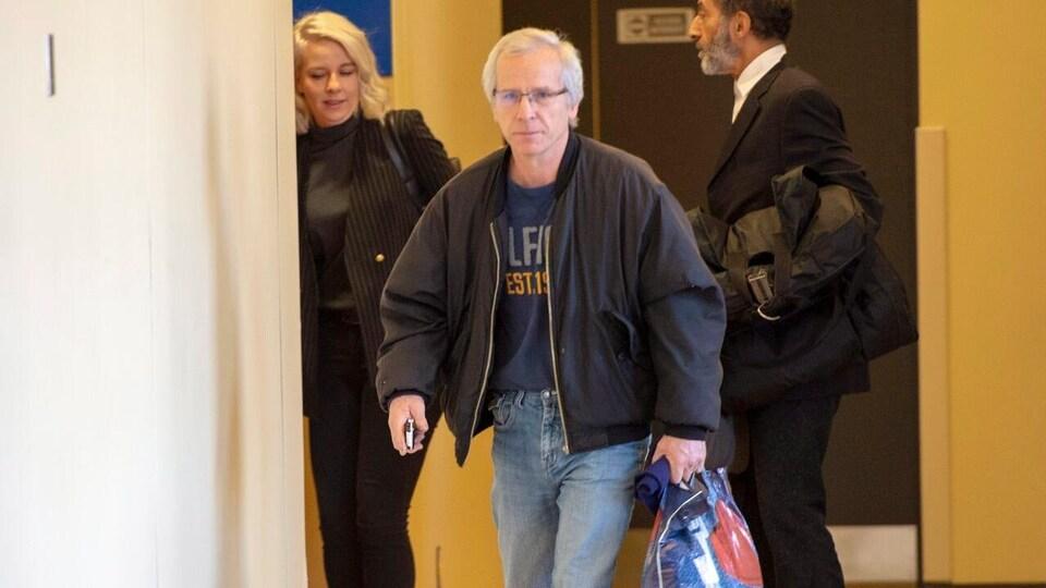 Normand Dubé au palais de justice de Montréal.