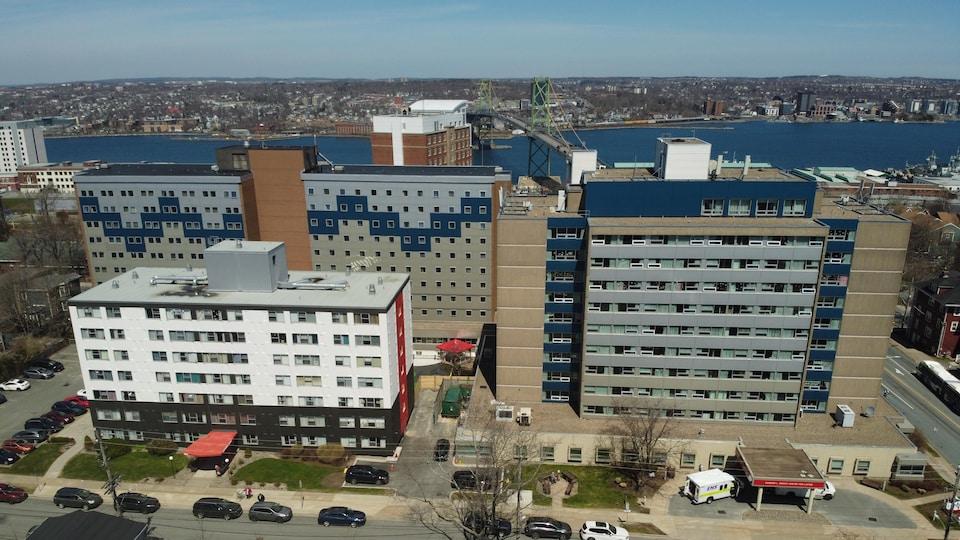 Une vue aérienne du foyer de soins Northwood.