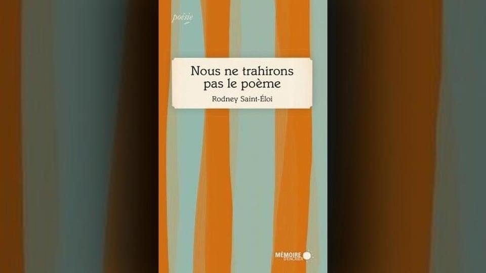 La page couverture est faite de bandes de couleur bleu et orange.