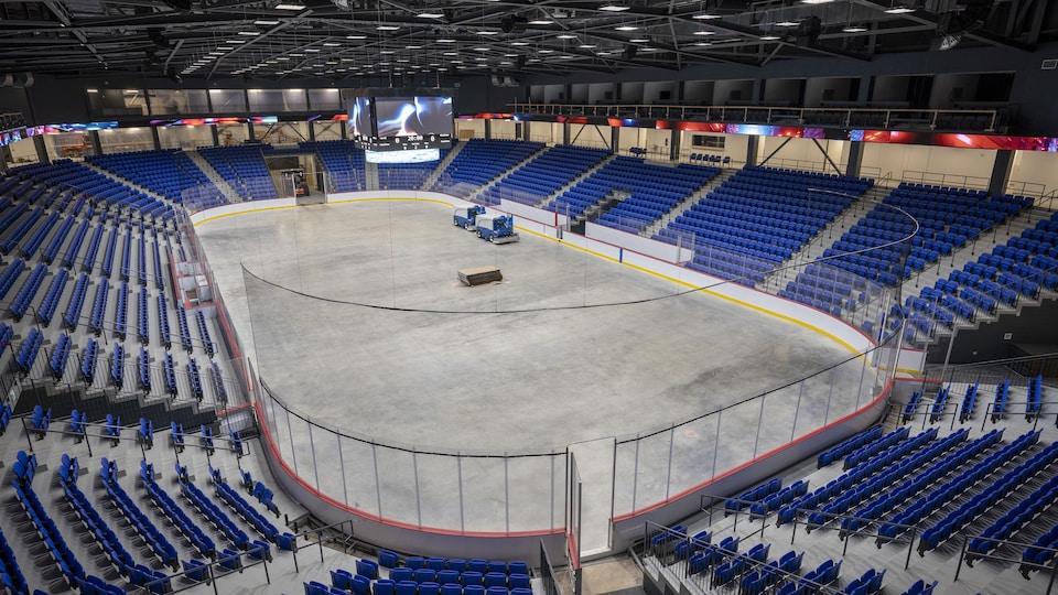 Un aréna vide.