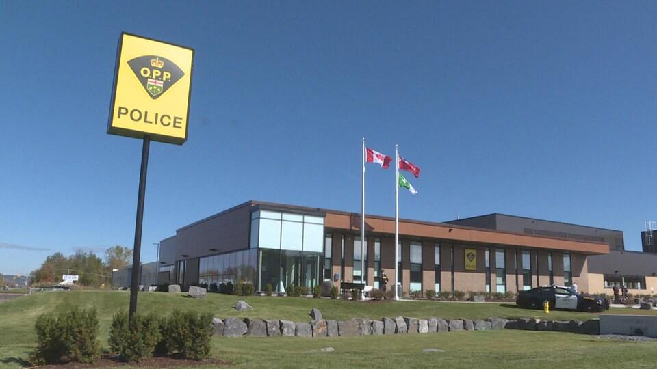 Le nouveau bâtiment de la Police provinciale de l'Ontario à Hawkesbury.