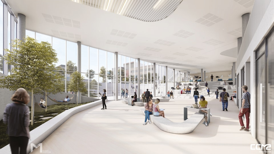 Maquette du futur pavillon de résidences de l'Université Laval