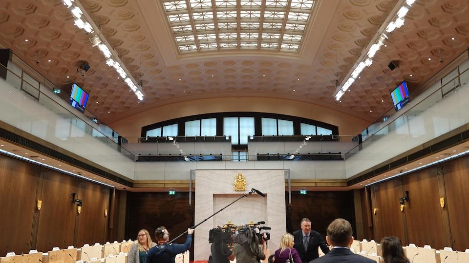 La nouvelle Chambre du Sénat.