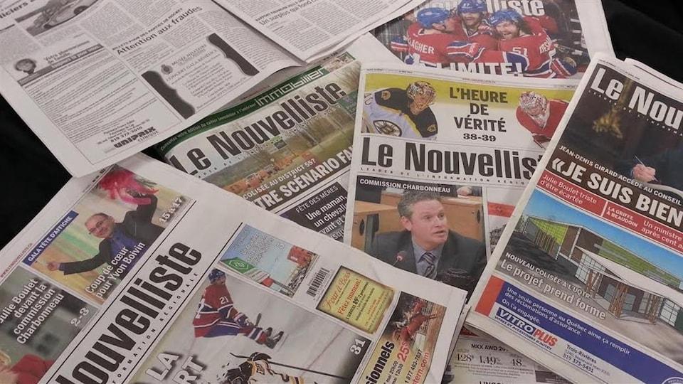 Éditions papier du journal Le Nouvelliste