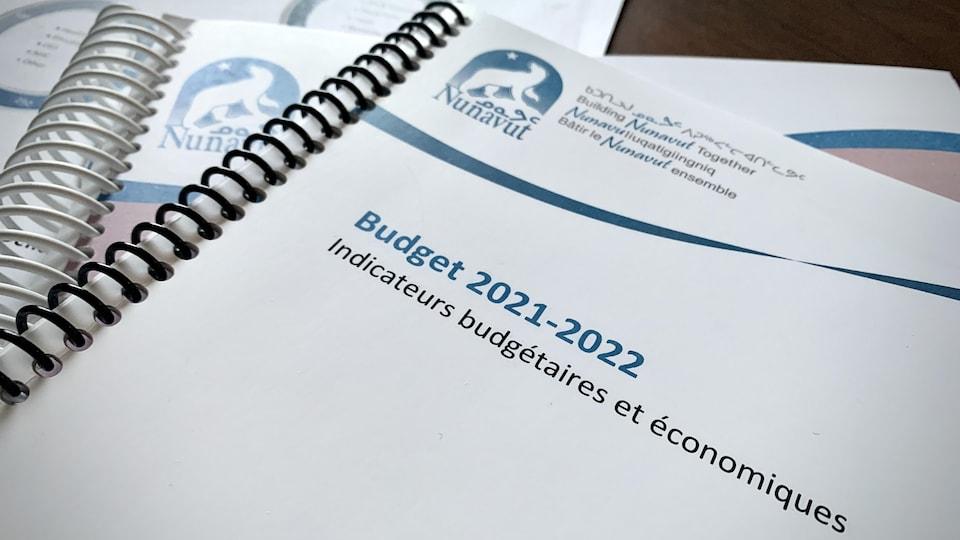La première de couverture de la version papier du budget territorial.