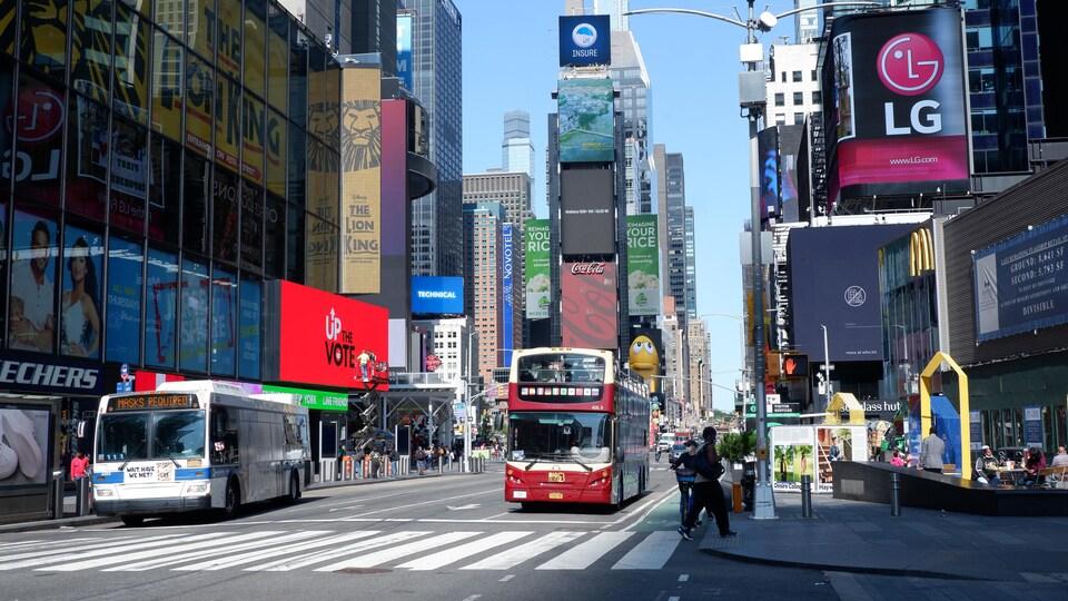 Times Square, à New York.