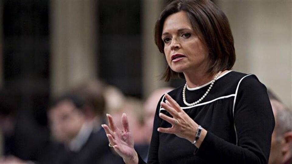L'ancienne ministre responsable de la région de Québec Josée Verner.