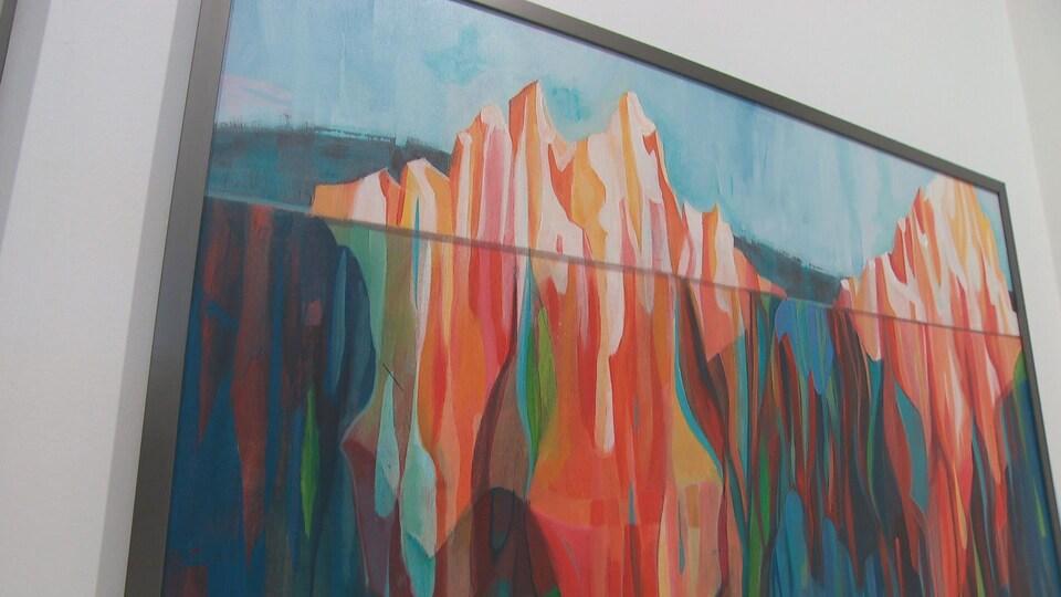 Une oeuvre de l'artiste métisse Dominique Normand.