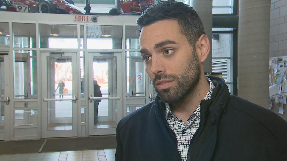 Olivier Bolduc, candidat de Québec solidaire dans Jean-Talon