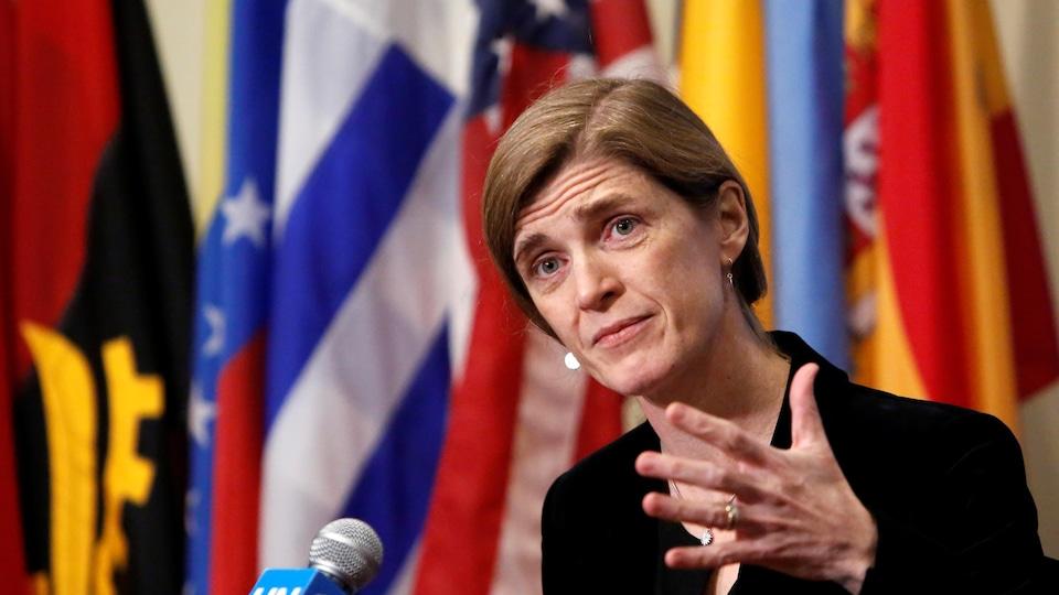 L'ambassadrice des États-Unis à l'ONU, Samantha Power.