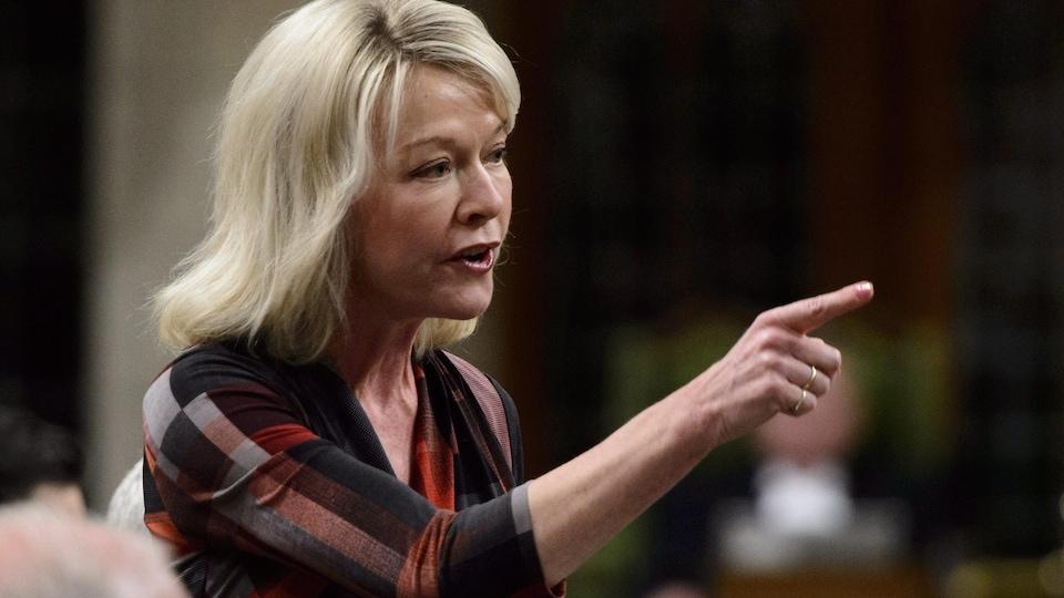 La leader des conservateurs en Chambre, Candice Bergen.