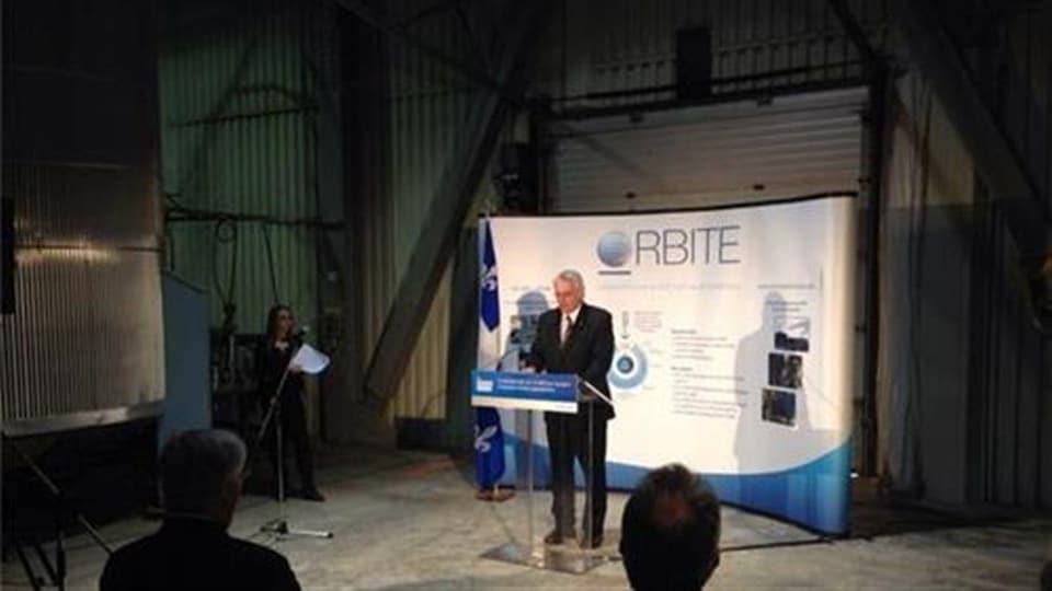 Conférence de presse pour l'usine Orbite de Cap-Chat.