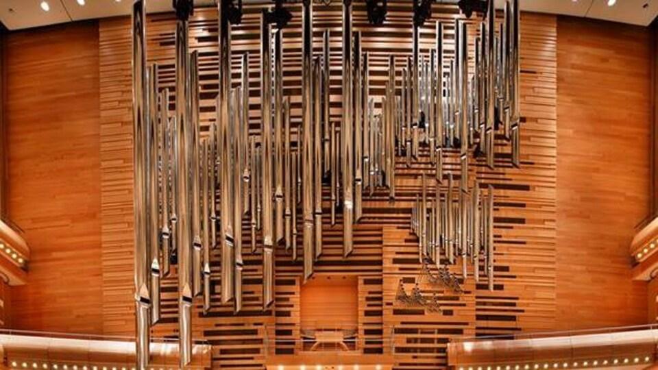 Les tuyaux de l'orgue de la Maison symphonique.