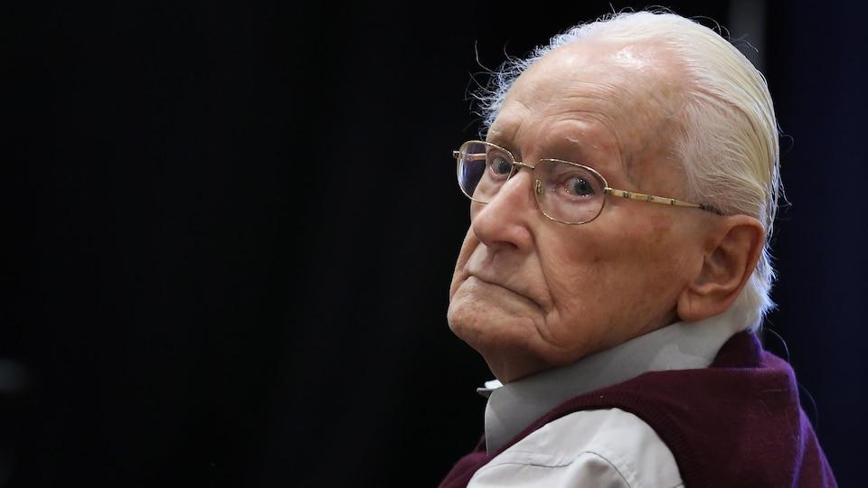 Oskar Gröning durant son procès le 1er juillet 2015.