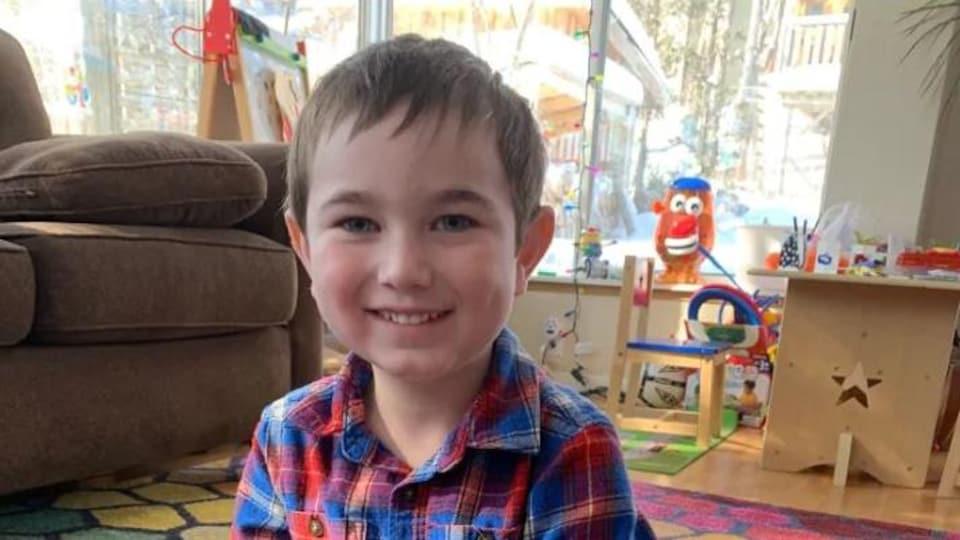 Owen Bornemann, 5 ans.