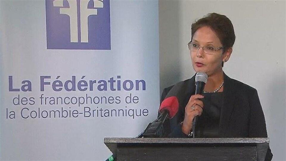 Padminee Chundunsing, présidente de la Fédération des francophones de la Colombie-Britannique
