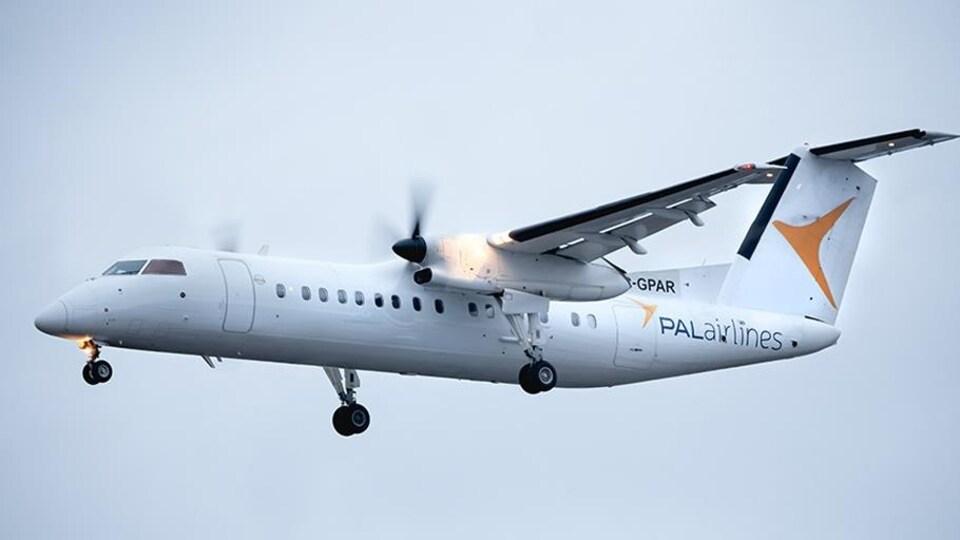 Un avion de la compagnie PAL Airlines dans le ciel.