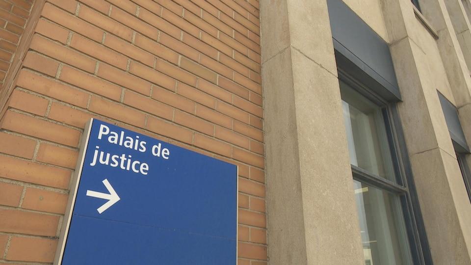 Le palais de justice d'Amqui.