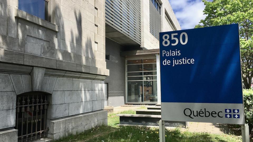 Le palais de justice de Trois-Rivières.