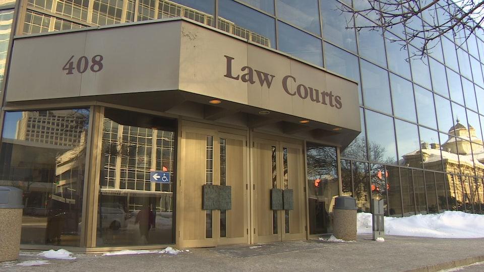 Le palais de justice de Winnipeg.