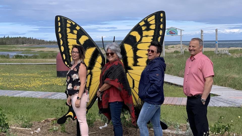 Le papillon de Bas-Caraquet.