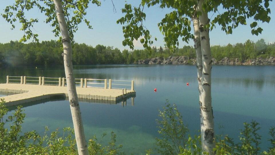 Le lac du Parc Atlas.