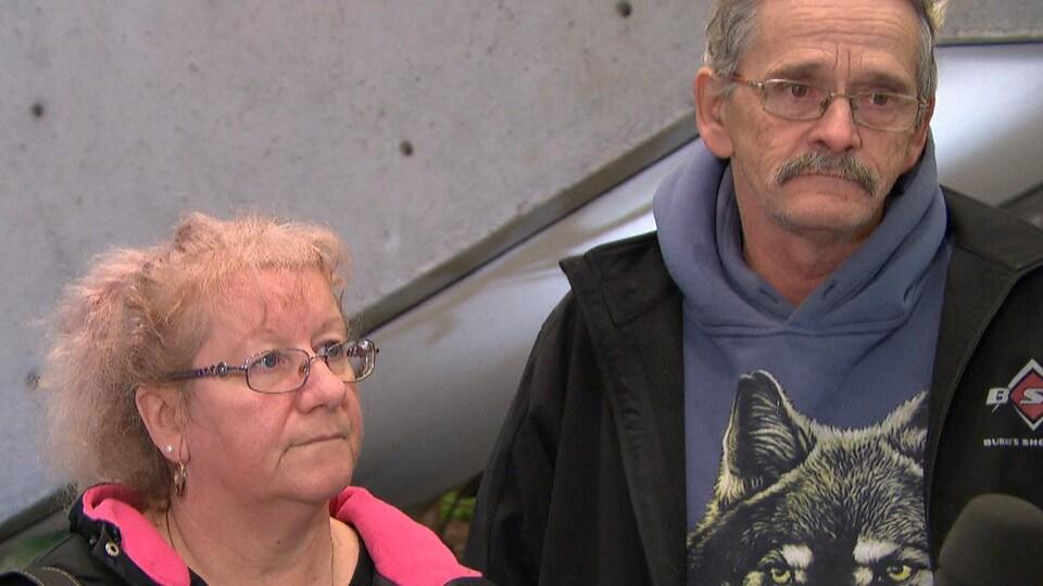 Les parents d'Amanda Trottier, Claude Trottier et Victoria Lebrasseur.